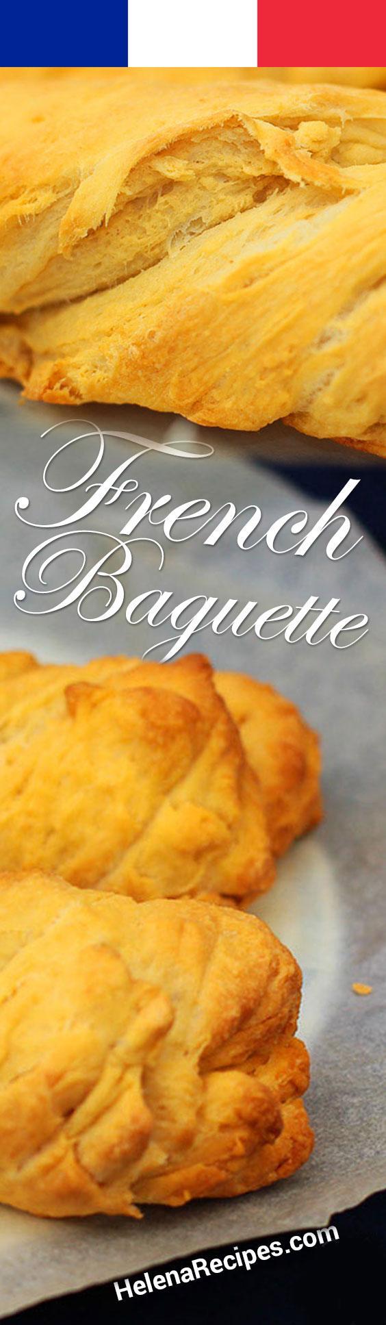French Baguette Recipe Pinterest Image