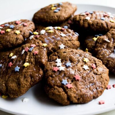 Christmas Chocolate Cookies Recipe Featured Images