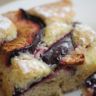 Plum Cake Recipe Closeup Featured Image