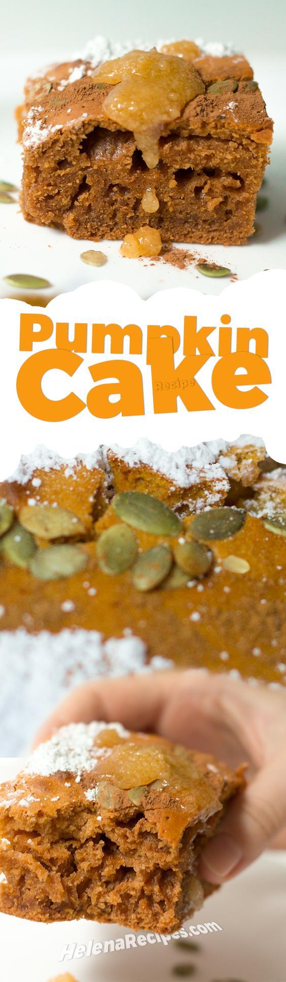Pumpkin Cake Recipe Pinterest Image