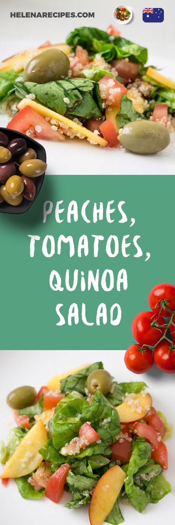Peaches, Tomatoes, Quinoa Salad for Pinterest