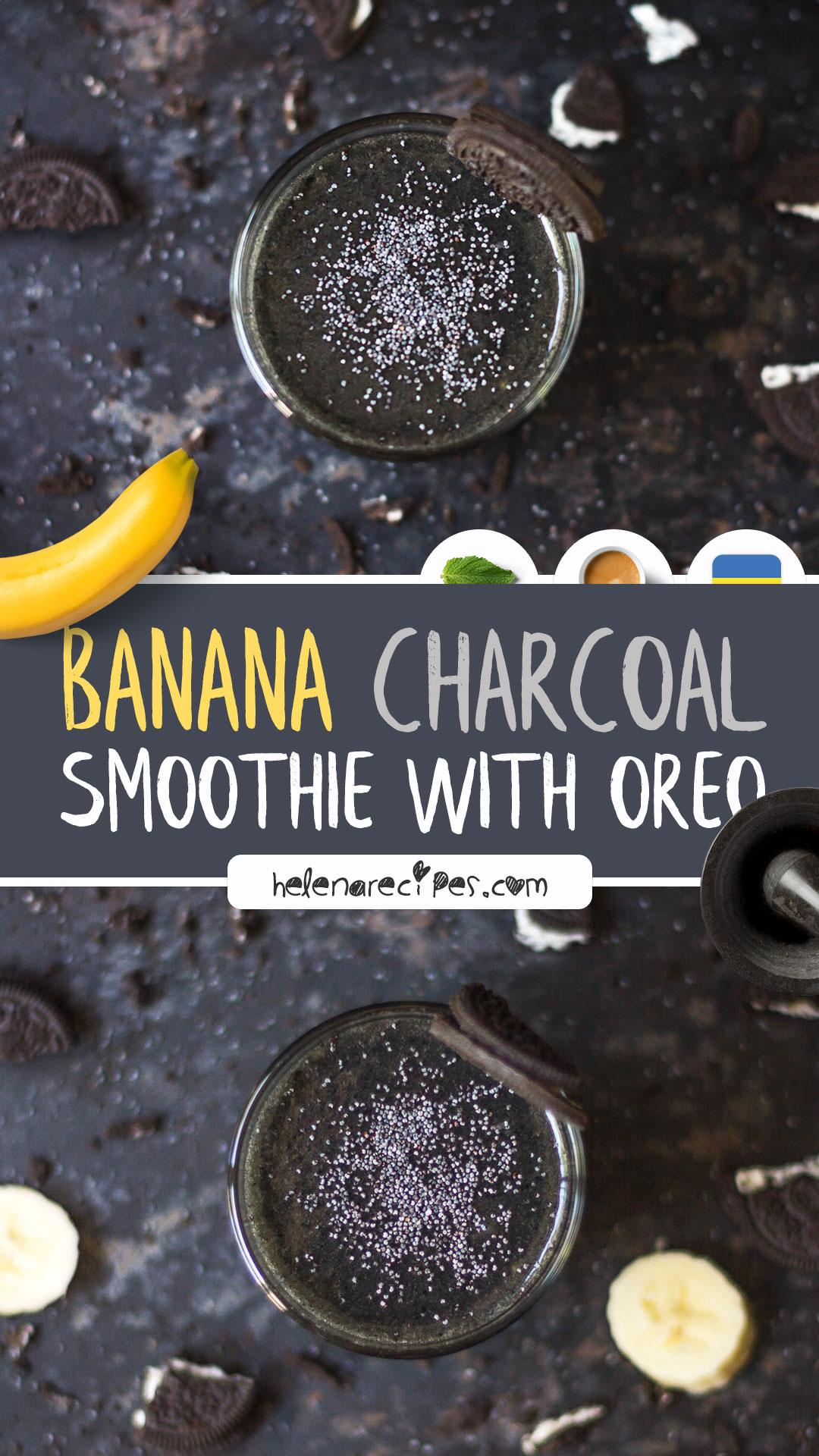 Banana Charcoal Smoothie with Oreo Recipe Connecting the Opposites