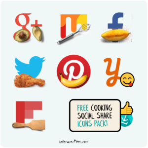 Free Cooking Social Share Icons Pack