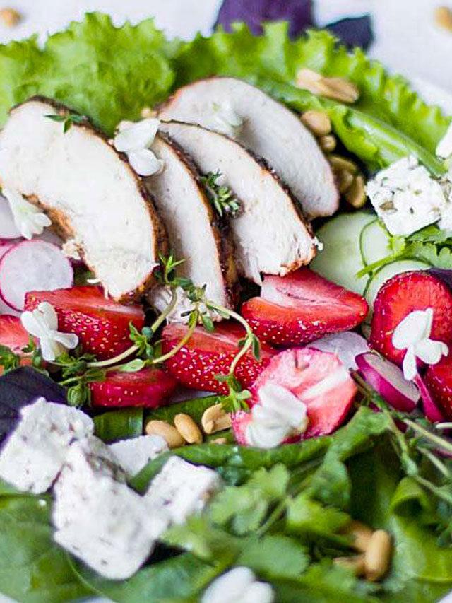 Chicken Feta Strawberry Salad Recipe